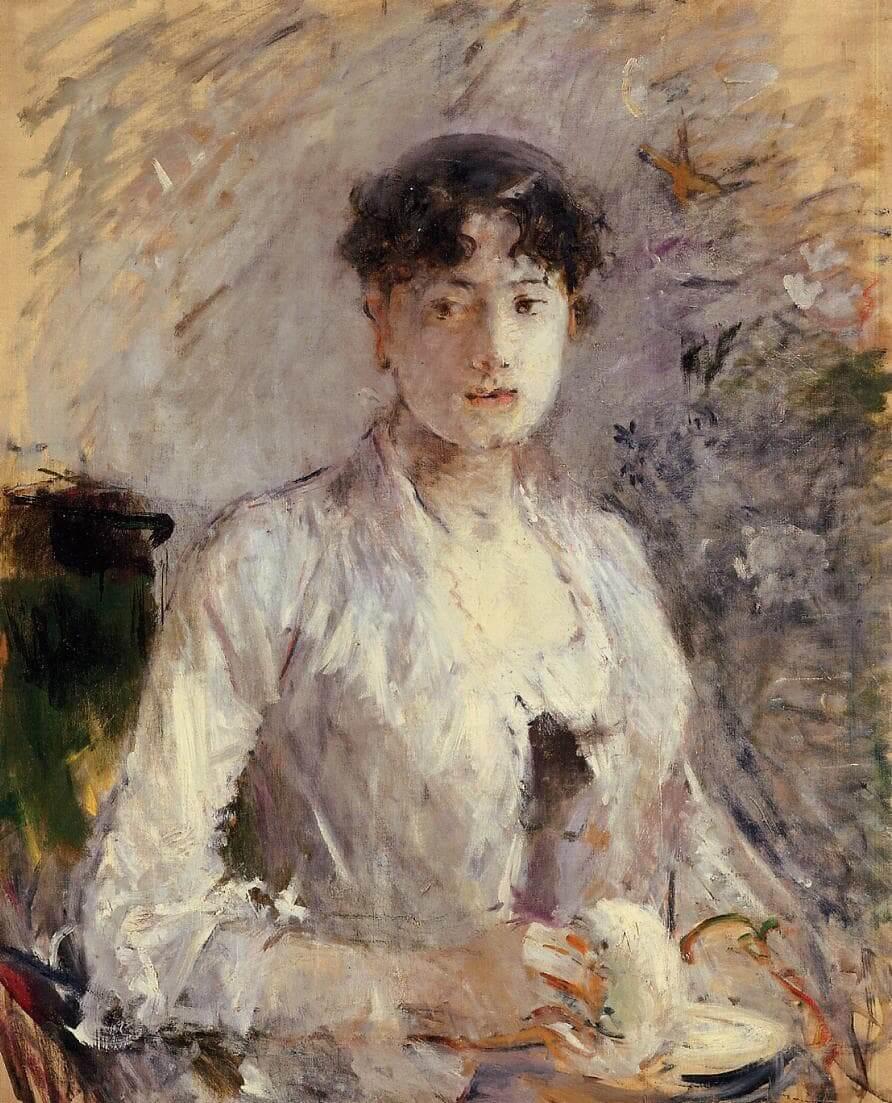 """Ung kvinde i lilla"" af Berthe Morisot"